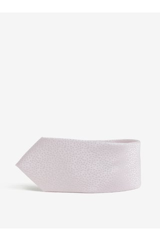 Cravata slim cut roz pal cu model geometric discret - Burton Menswear London
