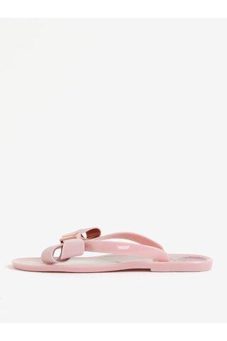 Papuci flip flop roz cu funda frontala Ted Baker Susziep