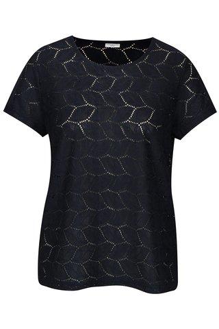 Bluza bleumarin din plasa cu perforatii Jacqueline de Yong Tag