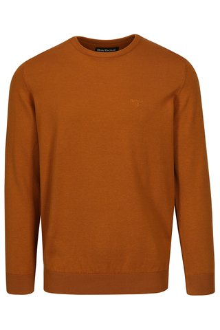 Pulover maroniu oranj cu logo brodat - Barbour Pima