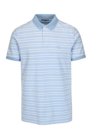 Tricou polo bleu cu model in dungi - Barbour Bedford