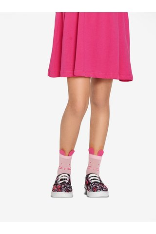 Růžové holčičí silonové ponožky s motivem myšky Penti Pretty Felis 30 DEN