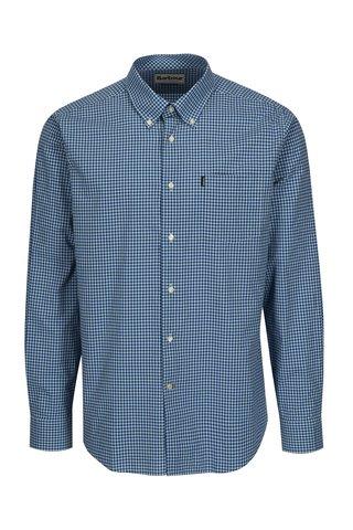 Camasa tailored fit albastra in carouri Barbour Leonard
