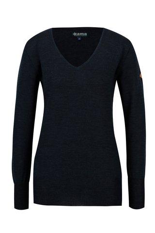 Pulover bleumarin din lana Merino pentru femei - Kama