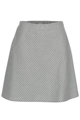 Šedá pruhovaná sukně VILA Delina