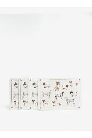 Set de 5 suporturi de farfurie/ pahare cu print caini - Cooksmart Coasters