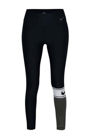 Colanti sport albastru & gri cu print logo pentru femei -  Nike Power Training Tight