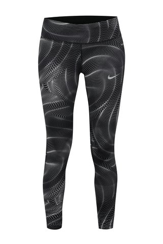 Colanti sport negri cu print abstract pentru femei  Nike PWR ESSNTL