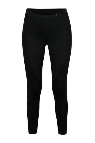Colanti sport negri cu perforatii si logo pentru femei -  Nike Hprcl Tght