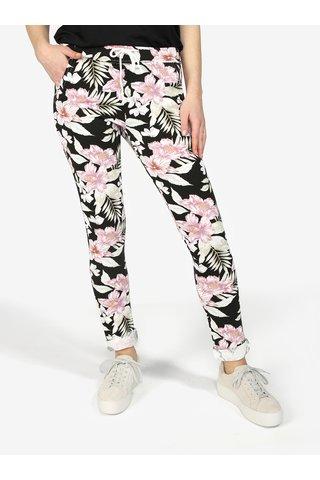 Pantaloni cu print floral si snur in talie Haily's Jada