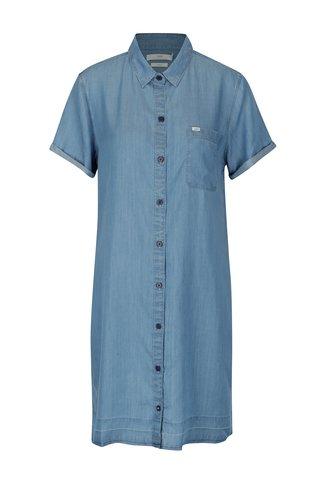 Světle modré džínové košilové šaty Lee Delft