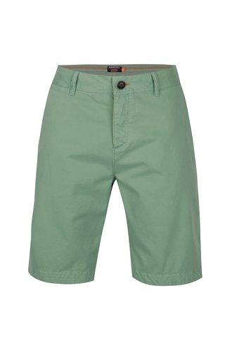 Pantaloni chino scurti verzi pentru barbati - Superdry