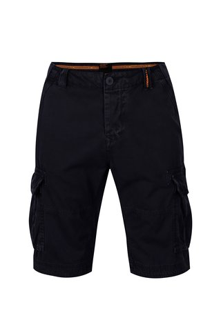Pantaloni scurti cargo bleumarin din bumbac pentru barbati - Superdry