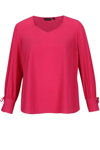 Bluza roz cu funda la maneci Dorothy Perkins Curve