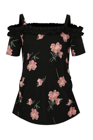 Bluza neagra cu decolteu pe umeri pentru femei insarcinate - Dorothy Perkins Maternity