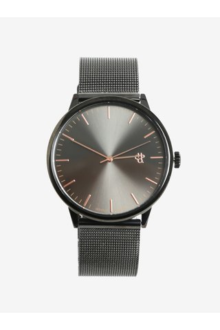 Ceas gri metalic inchis pentru barbati - CHPO Nando