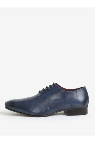 Pantofi bleumarin din piele naturala pentru barbati - London Brogues Denley