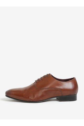 Pantofi maro din piele naturala pentru barbati - London Brogues Denley