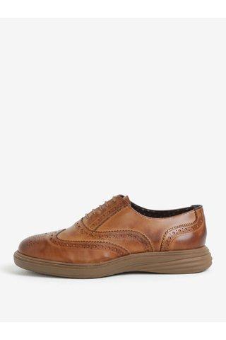 Pantofi brogue maro din piele naturala pentru barbati -  London Brogues Geoffery Derby