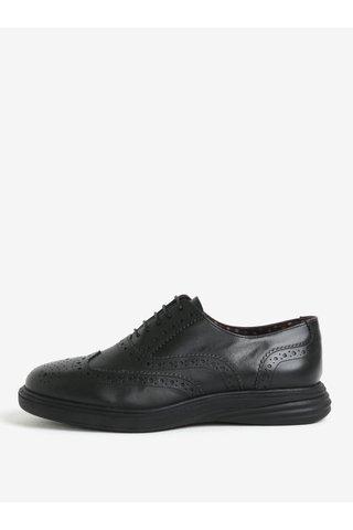 Pantofi brogue negri din piele naturala pentru barbati -  London Brogues Geoffery Derby