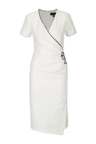 Krémové pouzdrové šaty NISSA