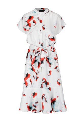 Bílé košilové květované šaty  NISSA