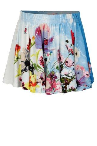 Krémovo-modrá sukně s potiskem BÓBOLI