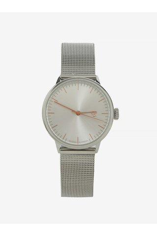 Ceas argintiu cu bratara metalica pentru femei -  CHPO Nando Mini Rose