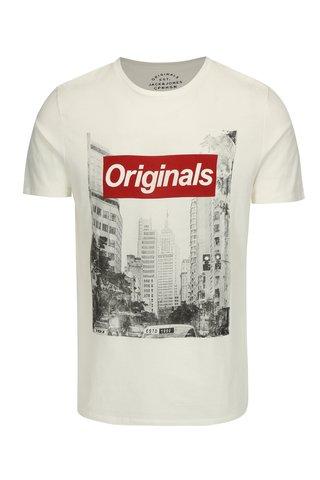 Krémové tričko s potiskem Jack & Jones Face