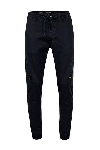Pantaloni bleumarin cu buzunare cu fermoare pe genunchi - Casual Friday by Blend