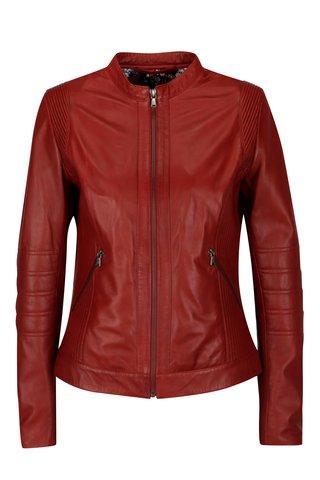 Červená dámská kožená bunda KARA Bawle