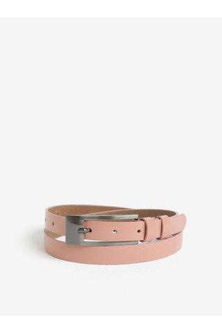 Růžový dámský kožený pásek KARA