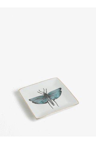 Krémový talířek na odkládání šperků s motivem vážky CGB