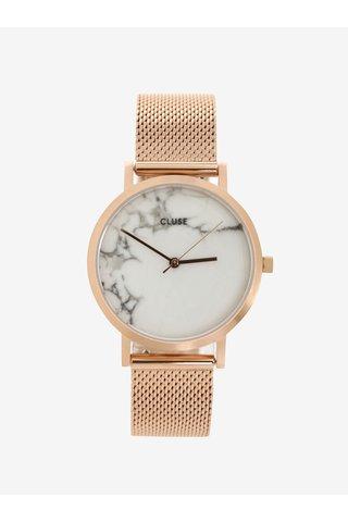 Ceas roz auriu roze cu bratara metalica pentru femei - CLUSE