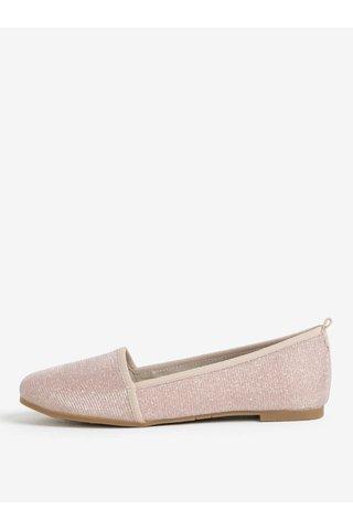 Espadrile roz cu aspect stralucitor - Tamaris