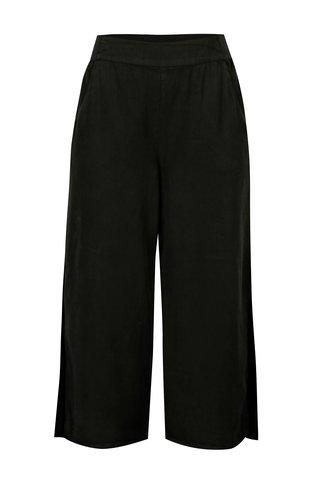 Černé cullotes kalhoty s rozparkem VILA Joannes