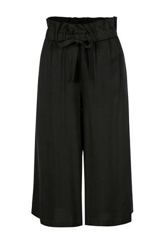 Černé volné kalhoty s páskem VILA Amaly