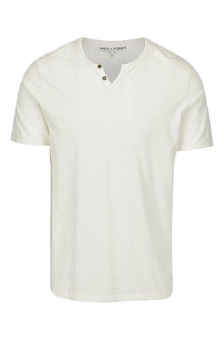 Krémové tričko Jack & Jones Premium Benjamin