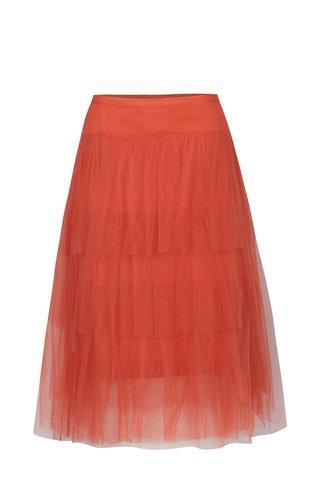 Korálová tylová sukně VILA Vista