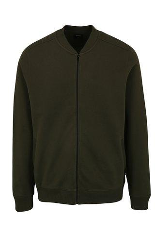 Jacheta bomber verde inchis cu buzunare - Burton Menswear London