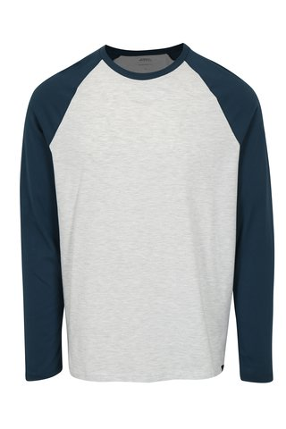 Bluza regular fit cu maneci raglan gri & bleumarin-  Burton Menswear London