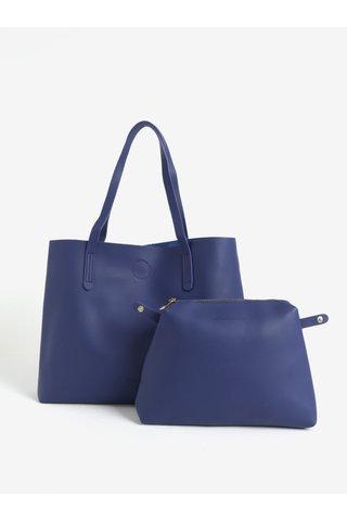 Geanta shopper bleumarin cu portofel detasabil Claudia Canova Ophelia