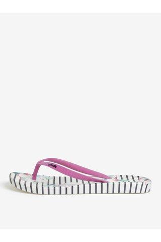 Papuci flip-flop crem cu print Tom Joule