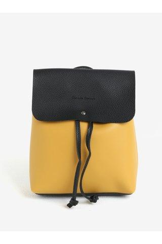Černo-hořčicový malý batoh/crossbody kabelka Claudia Canova Kiona