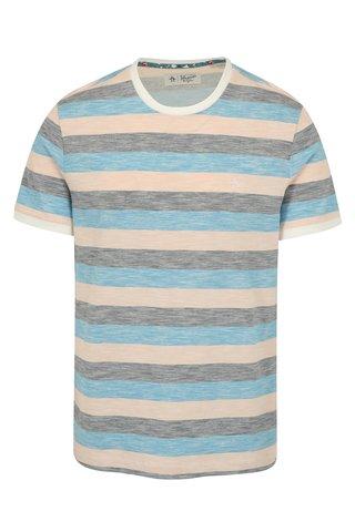 Tricou cu dungi bleu & roz din bumbac -  Original Penguin