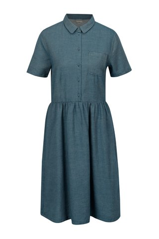 Rochie camasa albastra cu buzunar la piept - Selected Femme Taylor