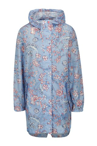 Jacheta impermeabila bleu cu print floral Tom Joule Golightly
