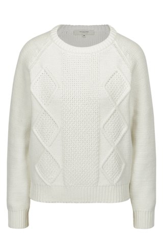 Pulover tricotat alb cu maneci raglan - Selected Femme Kasia