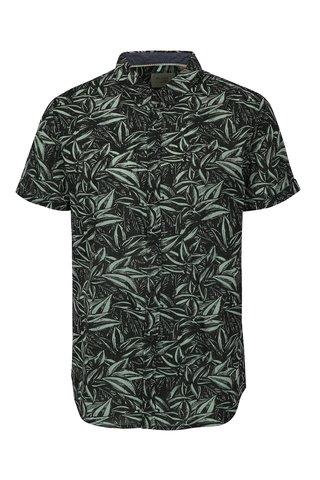 Camasa slim fit verde & negru cu print frunze - Blend