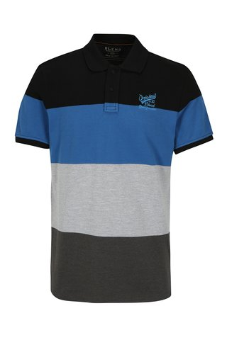 Tricou polo regular fit cu dungi late Blend